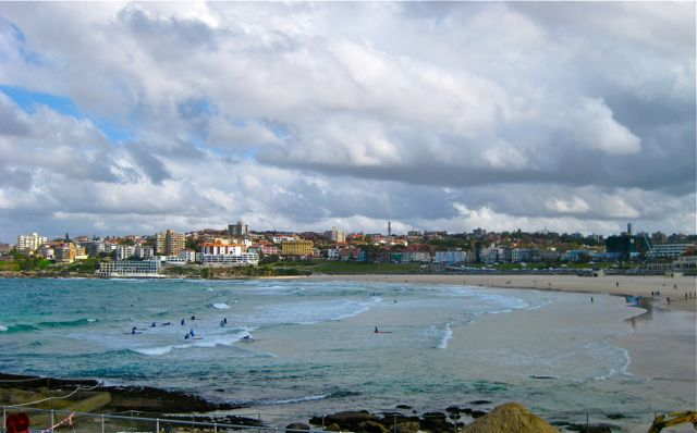 A windswept Bondi Beach