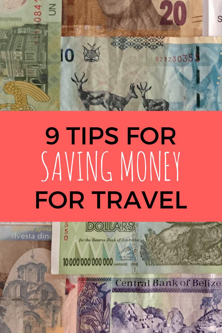 Tips for saving money for travel