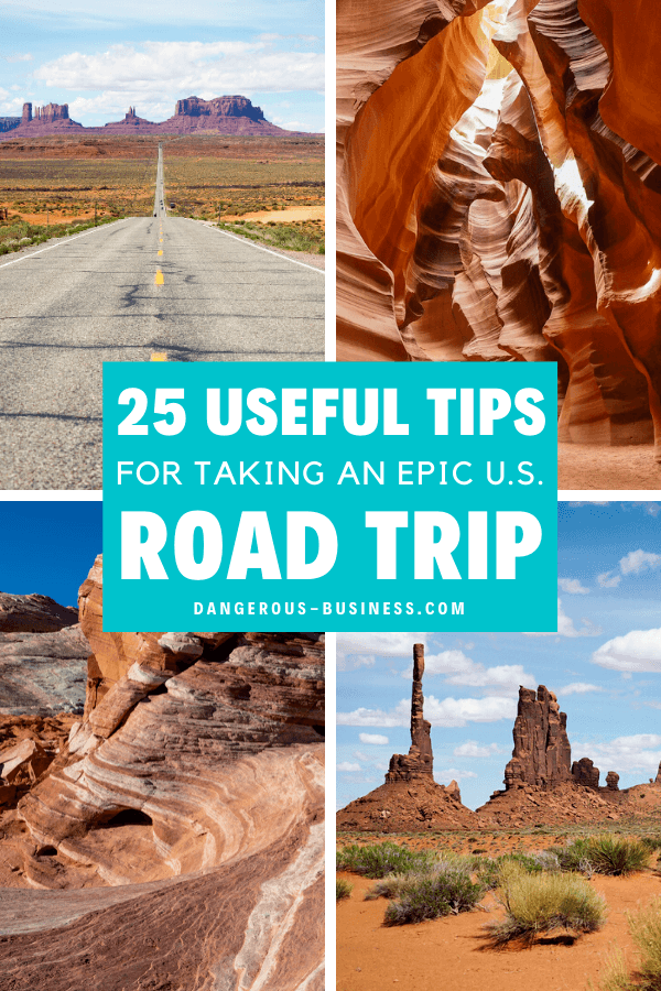 25 tips to help you plan a US road trip