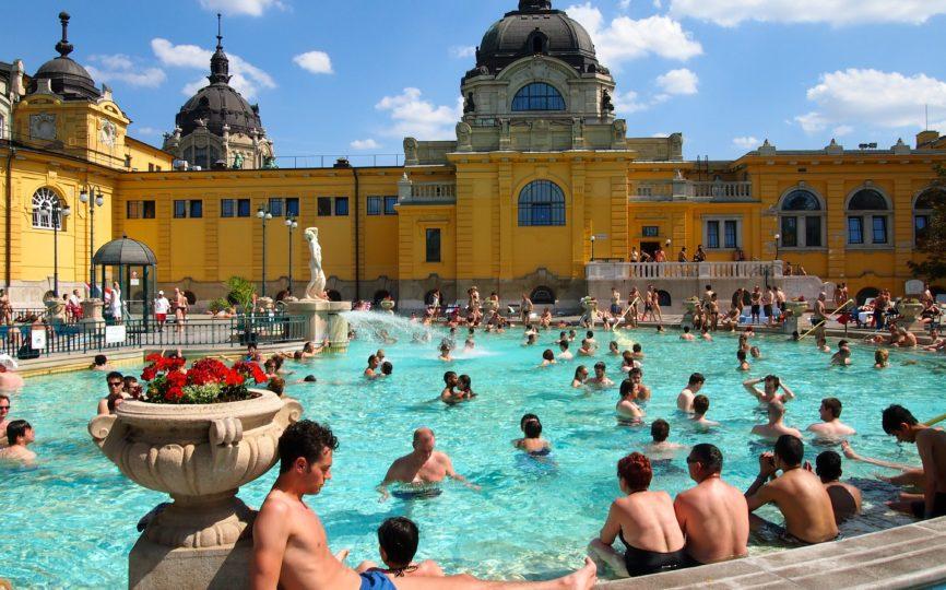 Soaking at the Szechenyi Baths