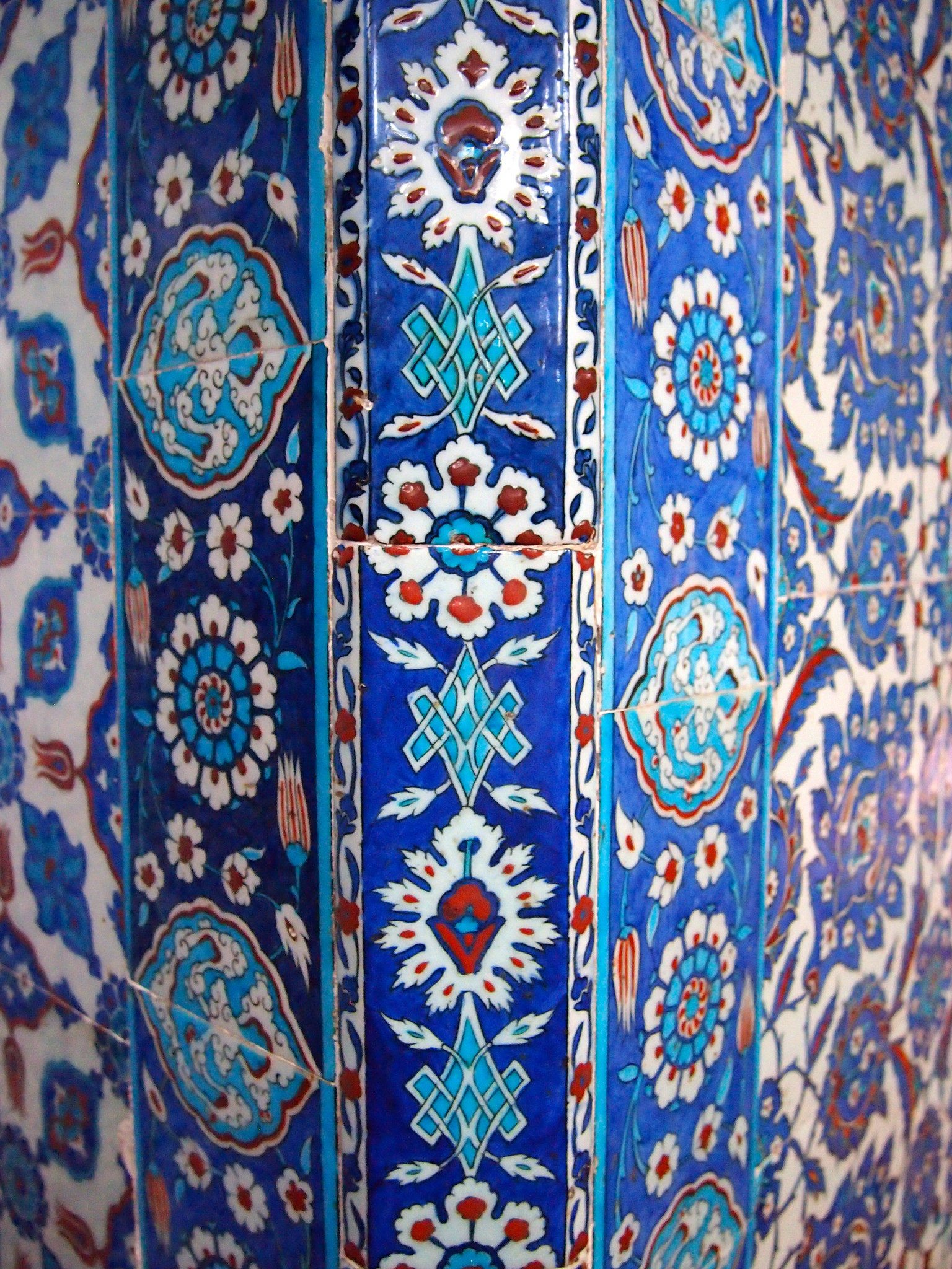 Mosque tiles in Istanbul, Turkey