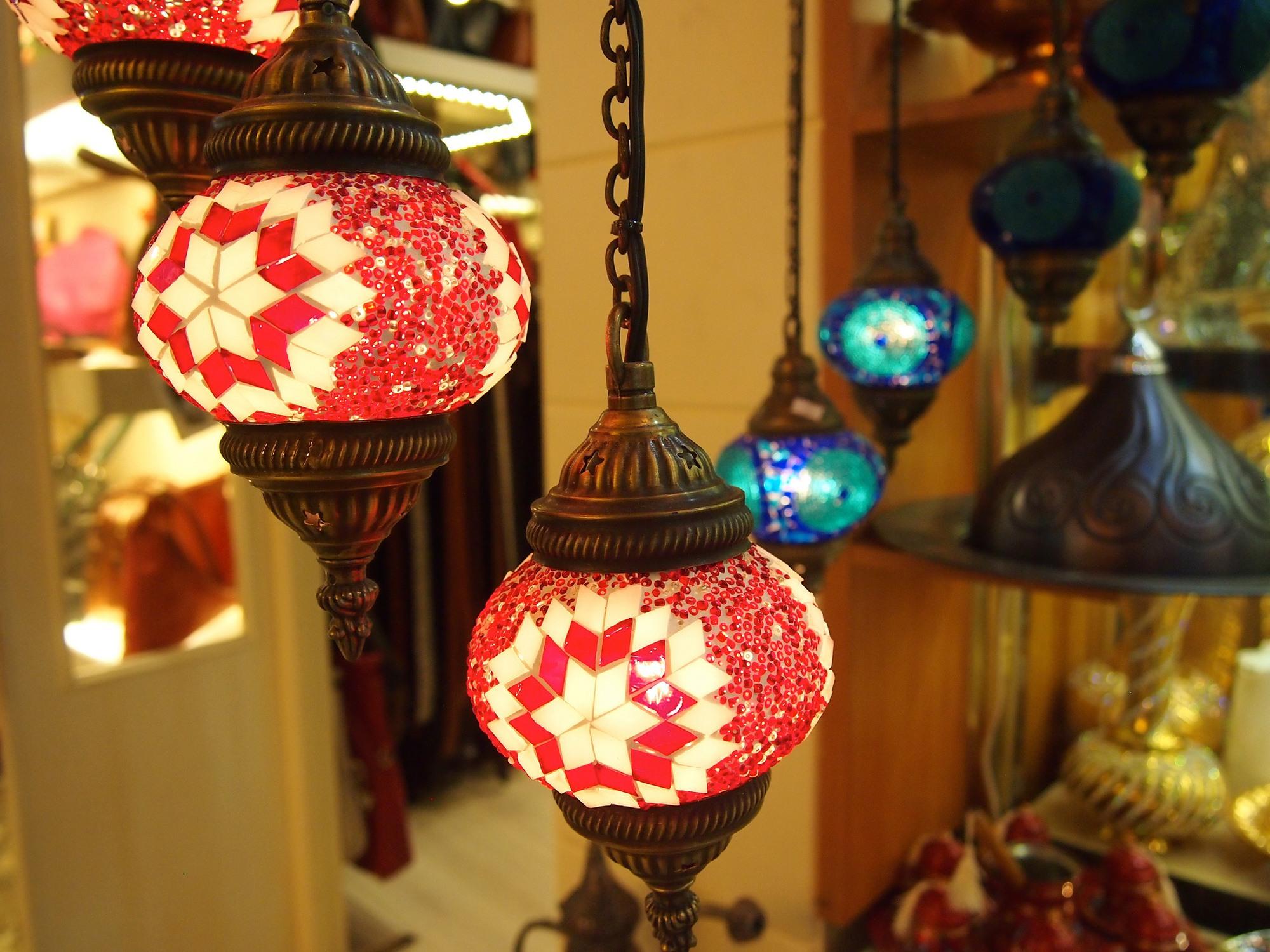 Lanterns in Istanbul's Grand Bazaar