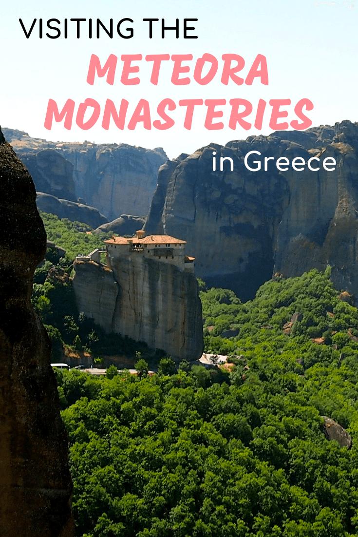 Visiting the monasteries in Meteora, Greece