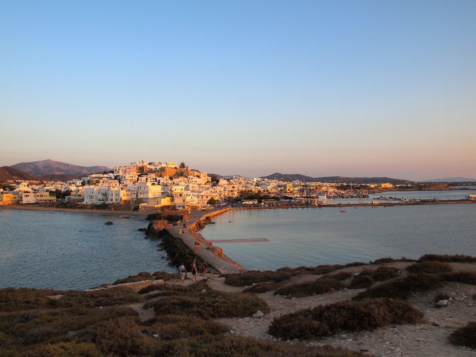 Naxos town in Greece