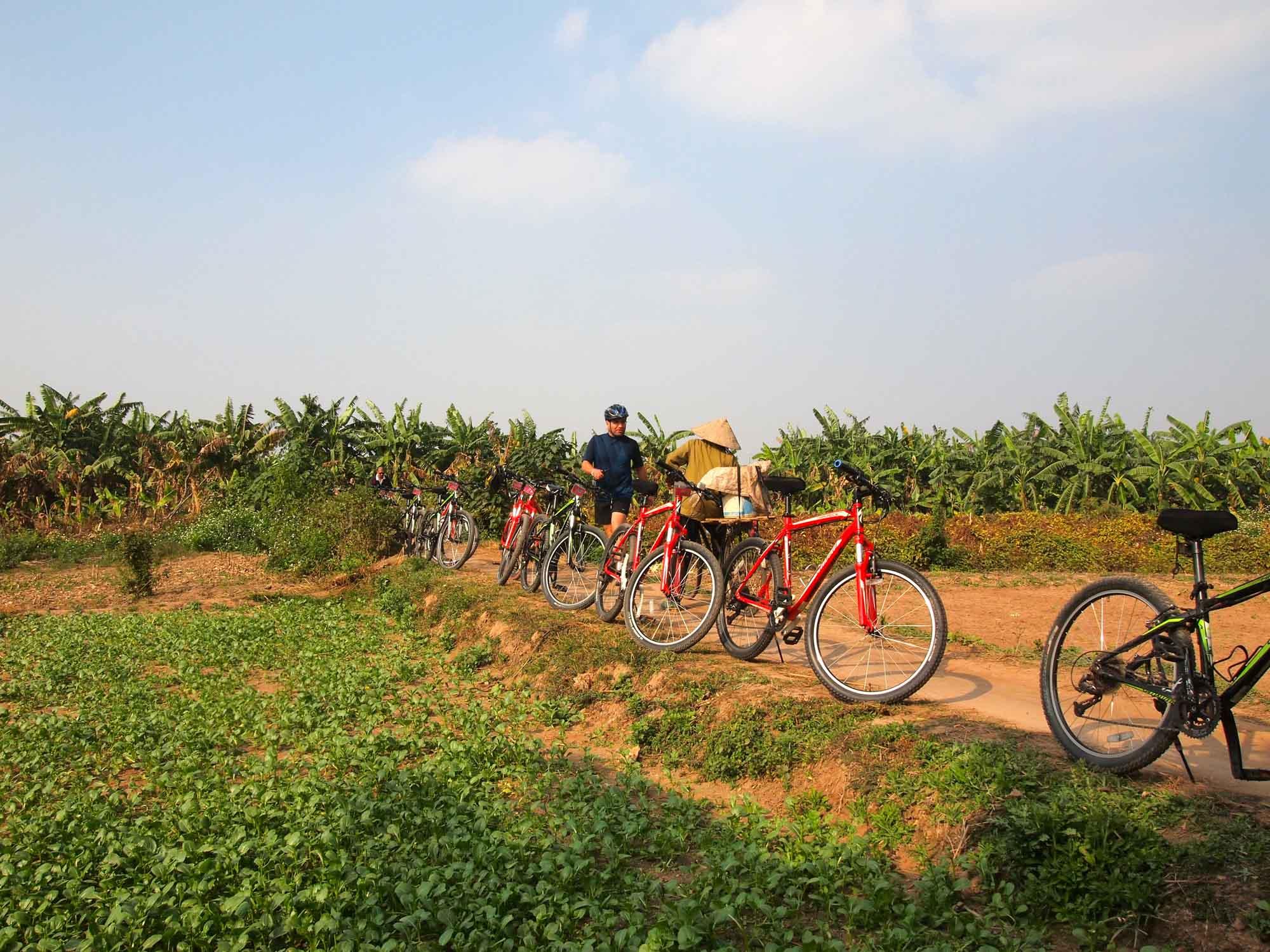 Countryside bike tour in Hanoi, Vietnam