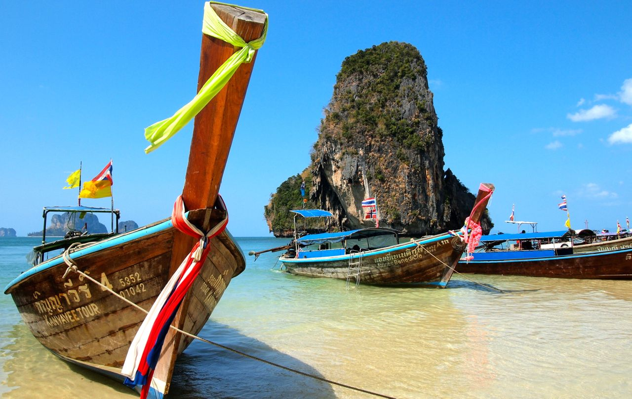 Pranang Beach in Railay, Thailand