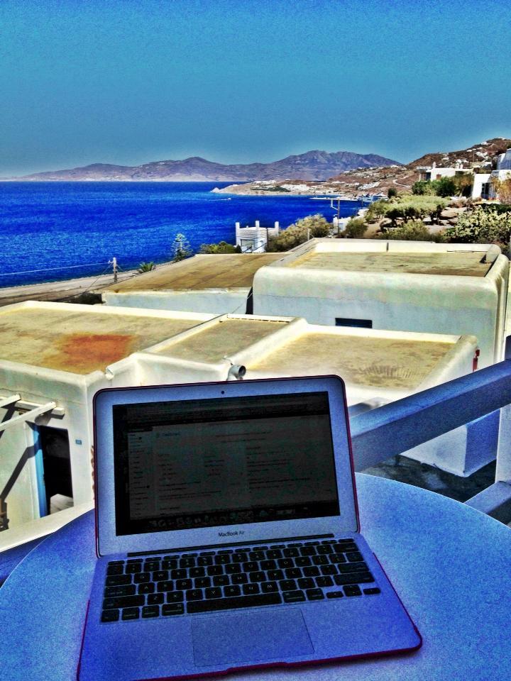 My office in Mykonos