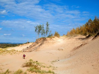 Sleeping Bear Dunes National Lakeshore in Michigan