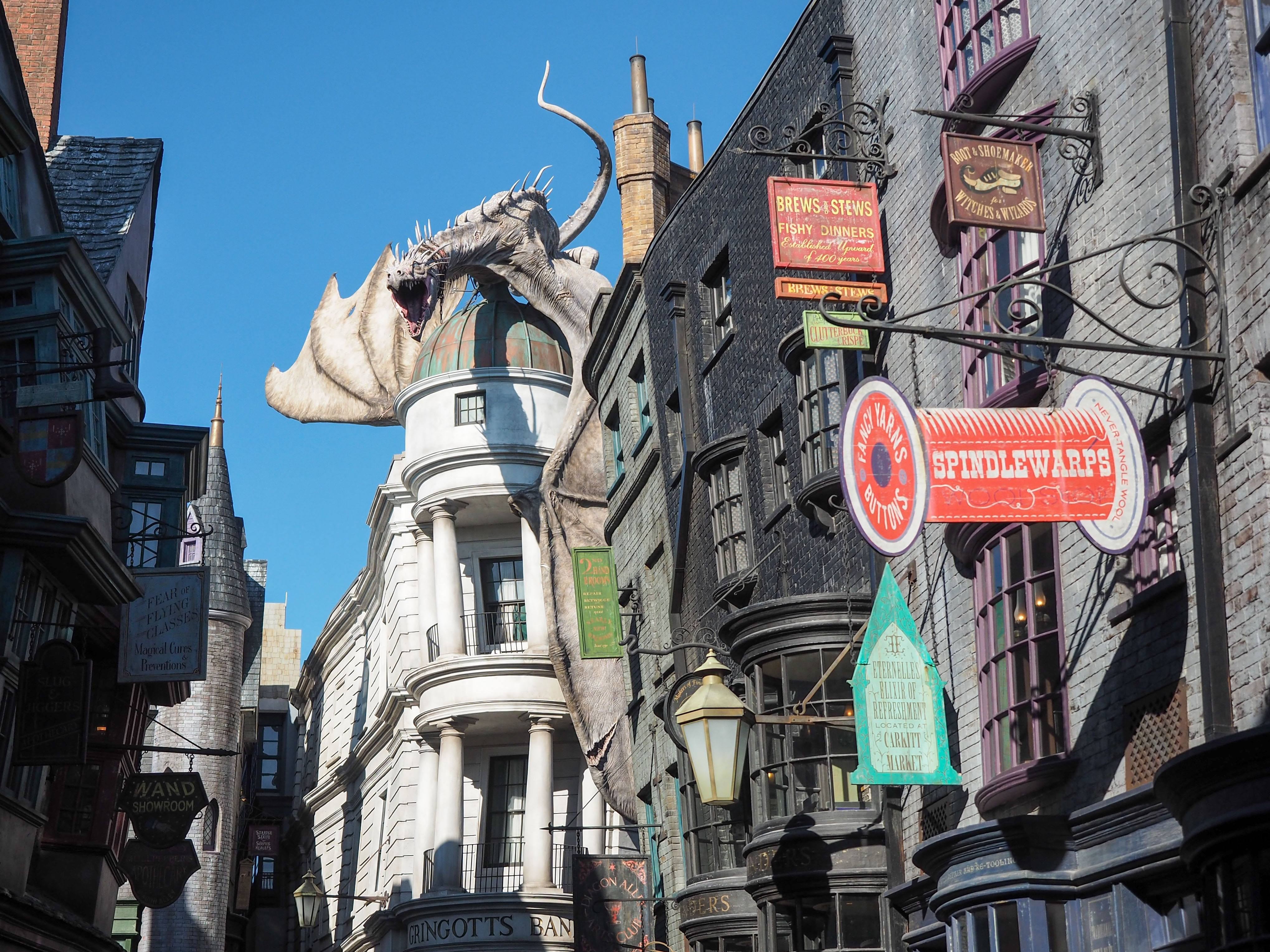 Diagon Alley at the Wizarding World of Harry Potter at Universal Orlando