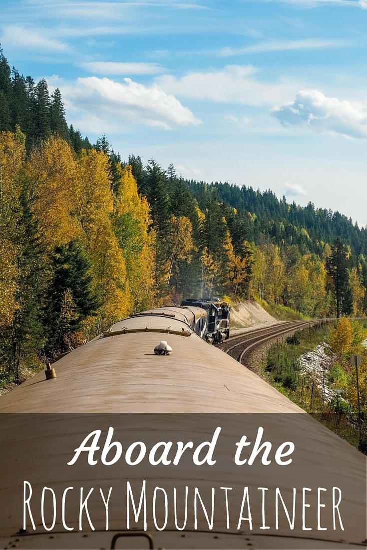 Photos taken aboard the Rocky Mountaineer train