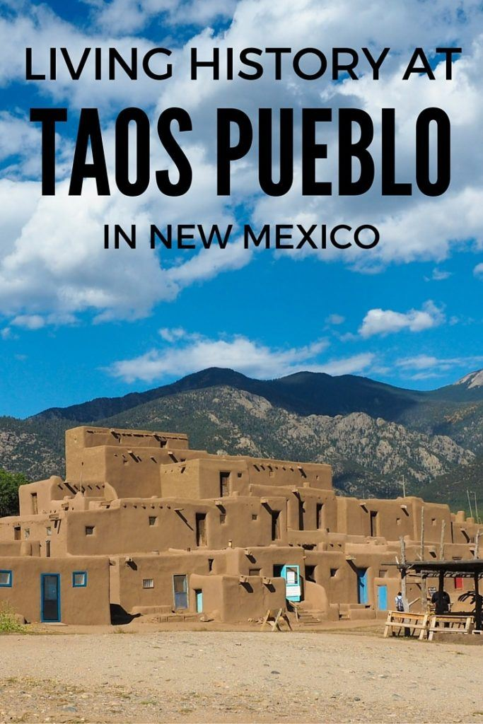 History at Taos Pueblo in New Mexico