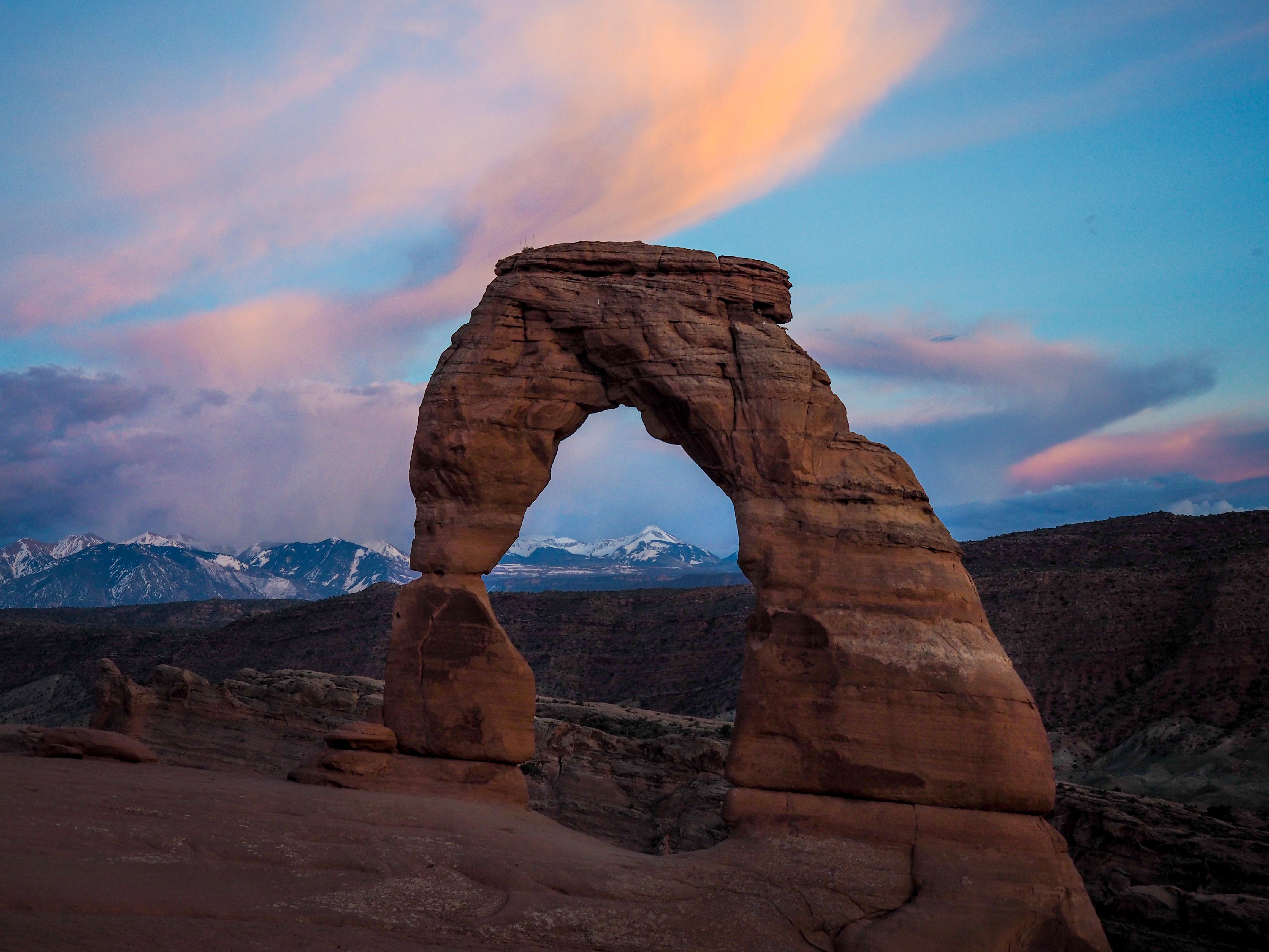 Hiking To Delicate Arch For Sunset In Arches National Park