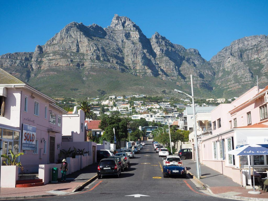 Camps Bay in Cape Town, South Africa