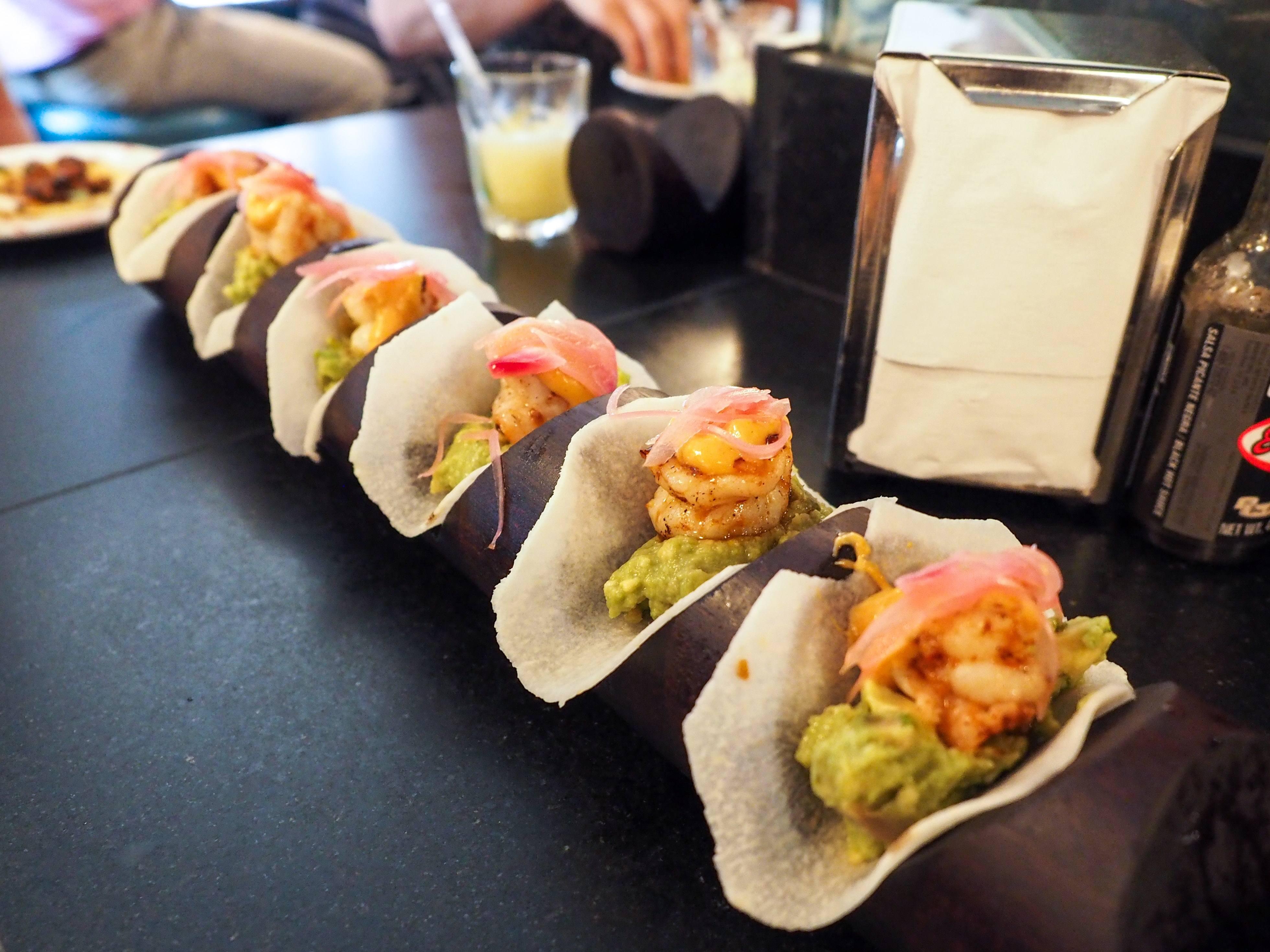 Tacos on a London Soho food tour