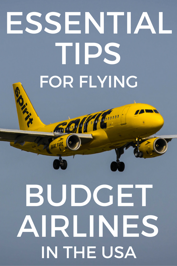 Tips for flying budget airlines in the US