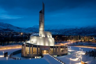 Northern Lights Cathedral in Alta, Norway