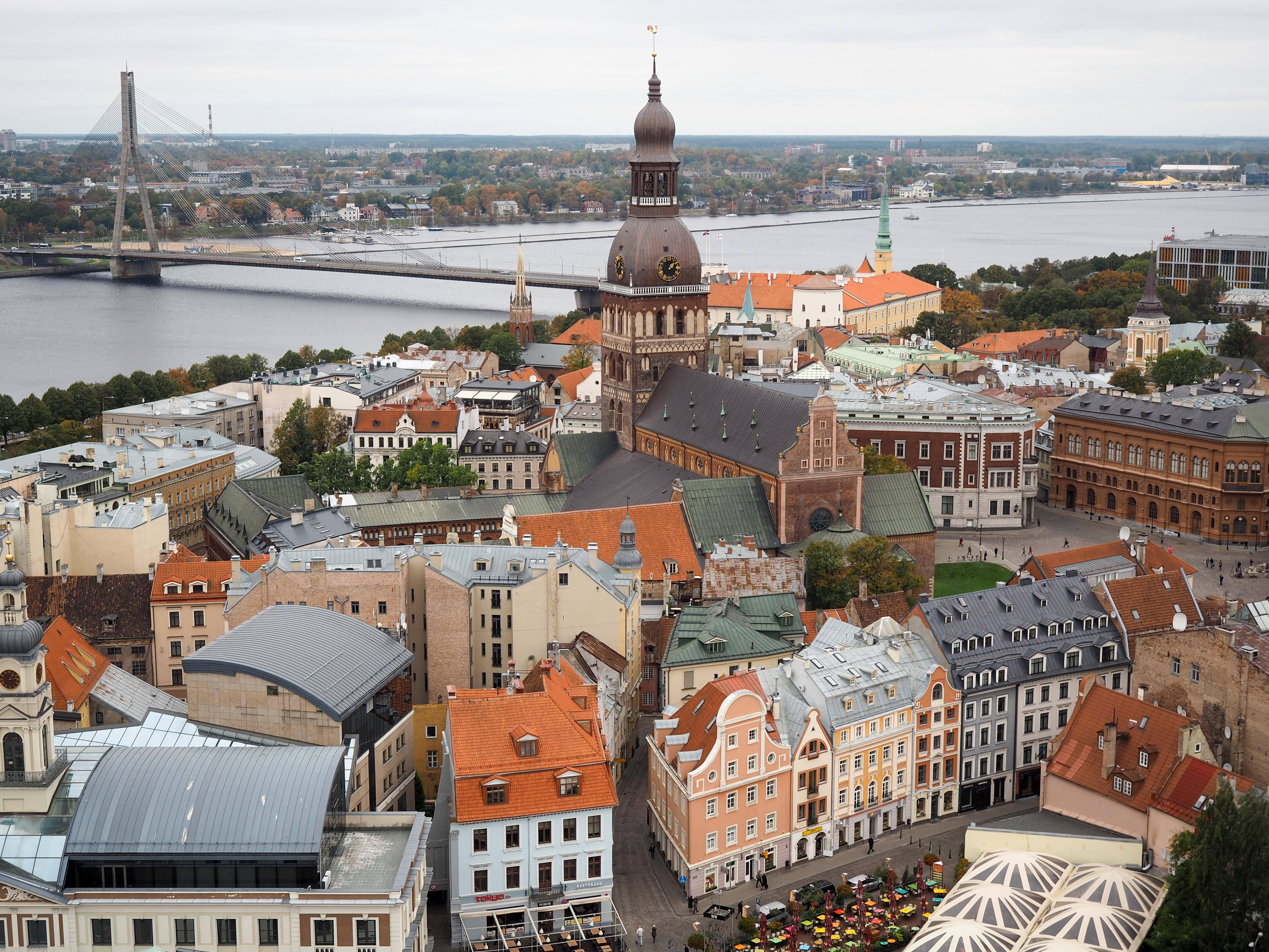 Riga, Latvia from St. Peter's Church