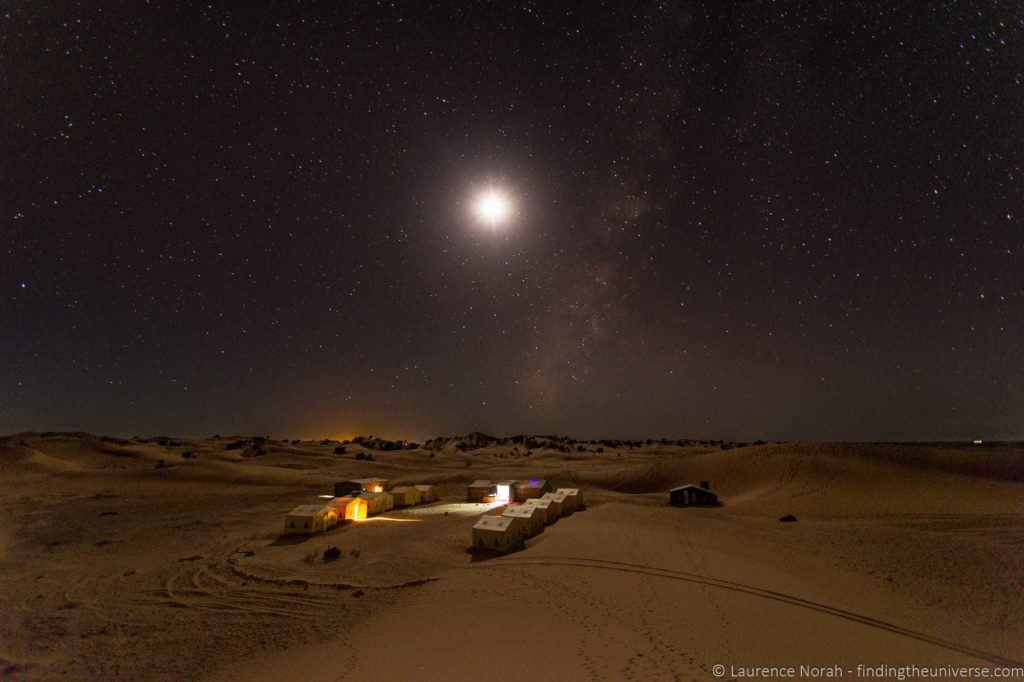Desert camp by night Morocco