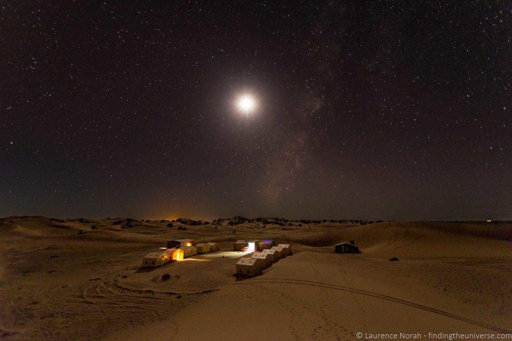 Desert camp by night Morocco