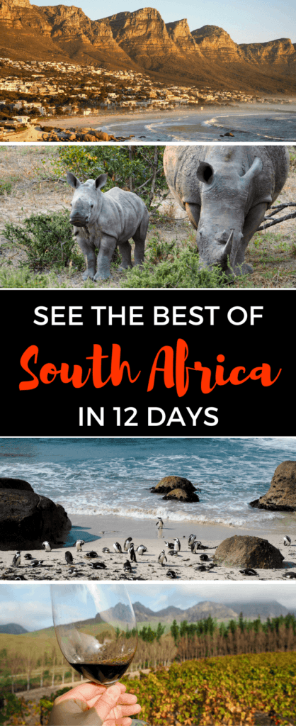 A 12-day travel itinerary for South Africa