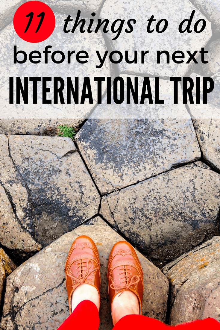 Things to do before an international trip
