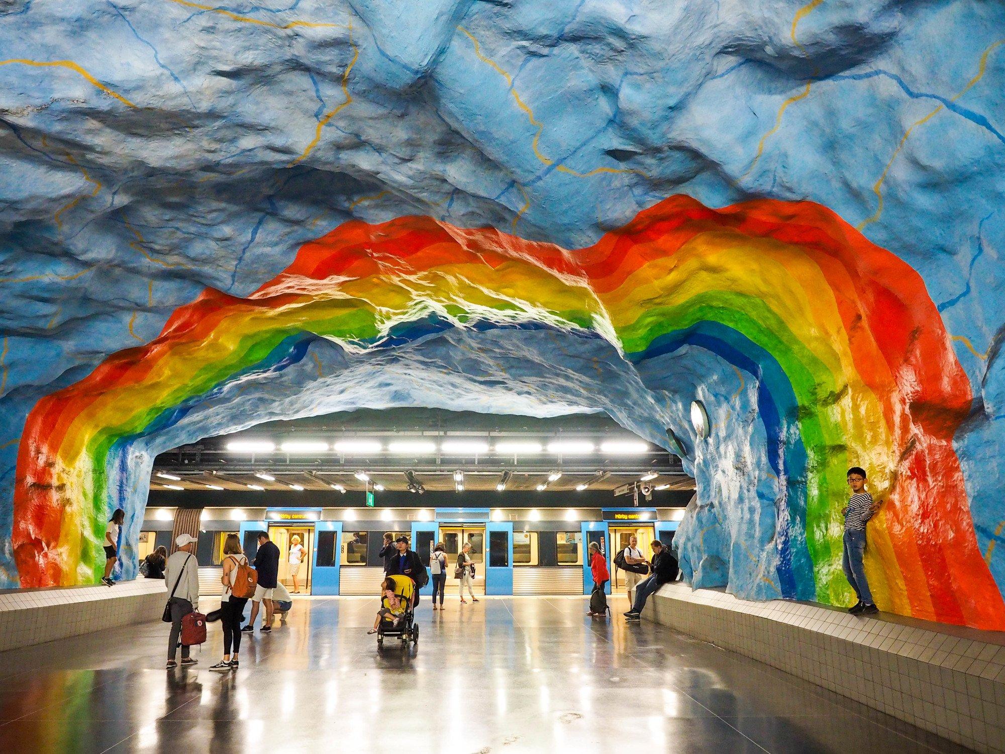 Stadion metro station in Stockholm, Sweden