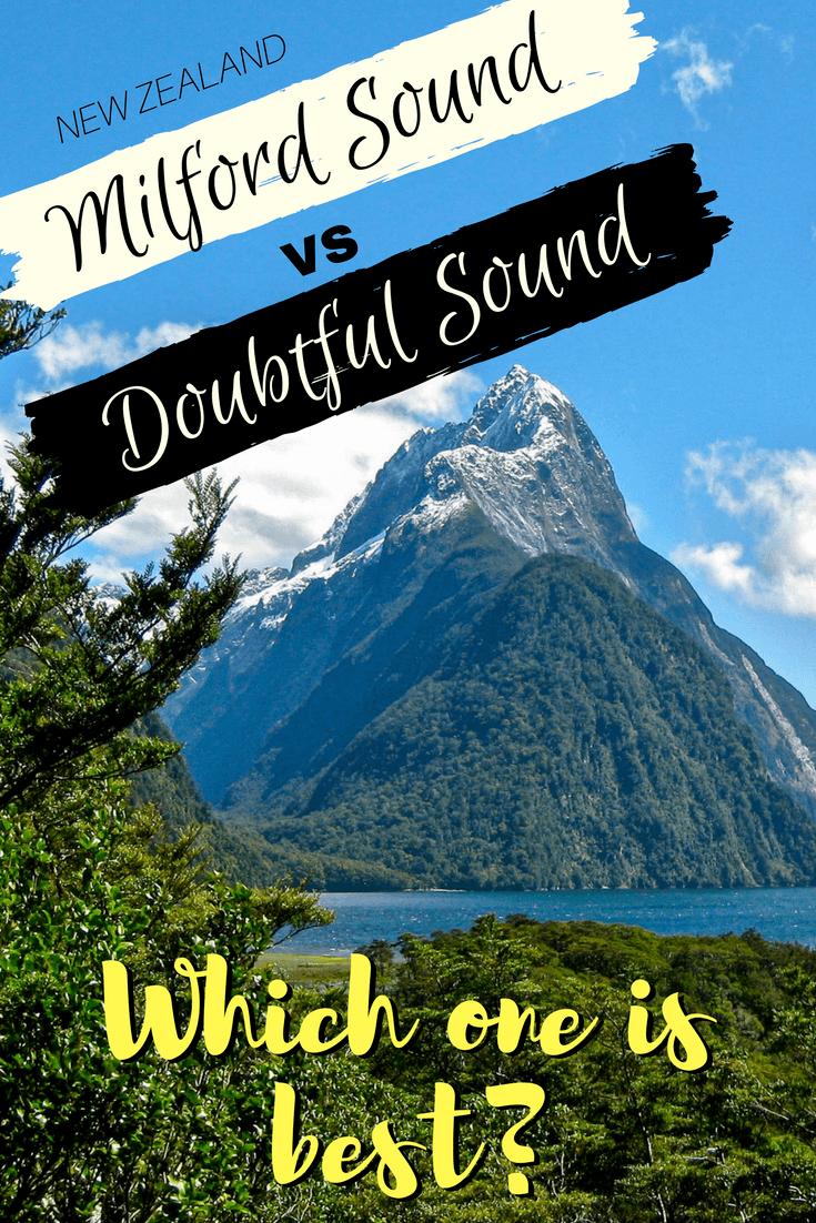 Milford Sound vs Doubtful Sound in New Zealand