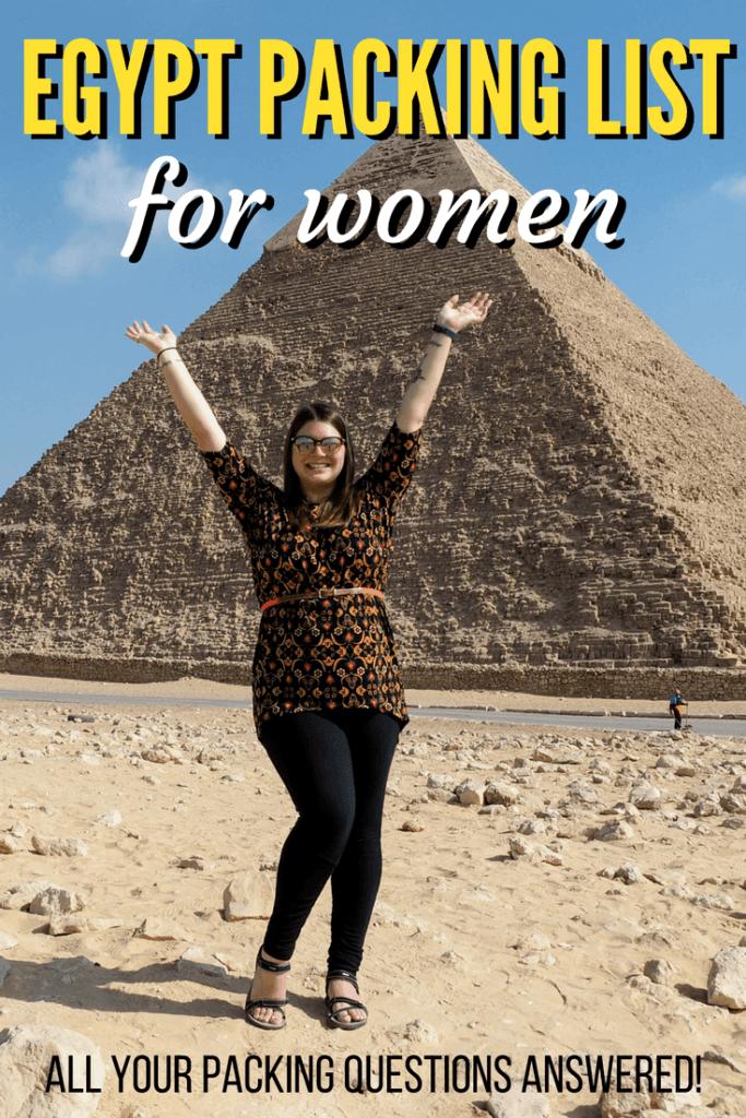 Egypt packing list for women