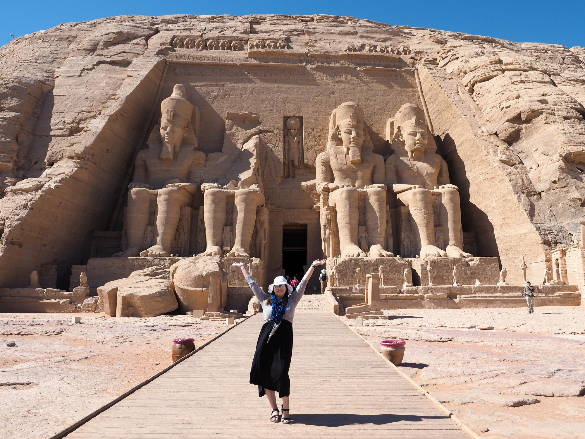 Abu Simbel temples in Egypt