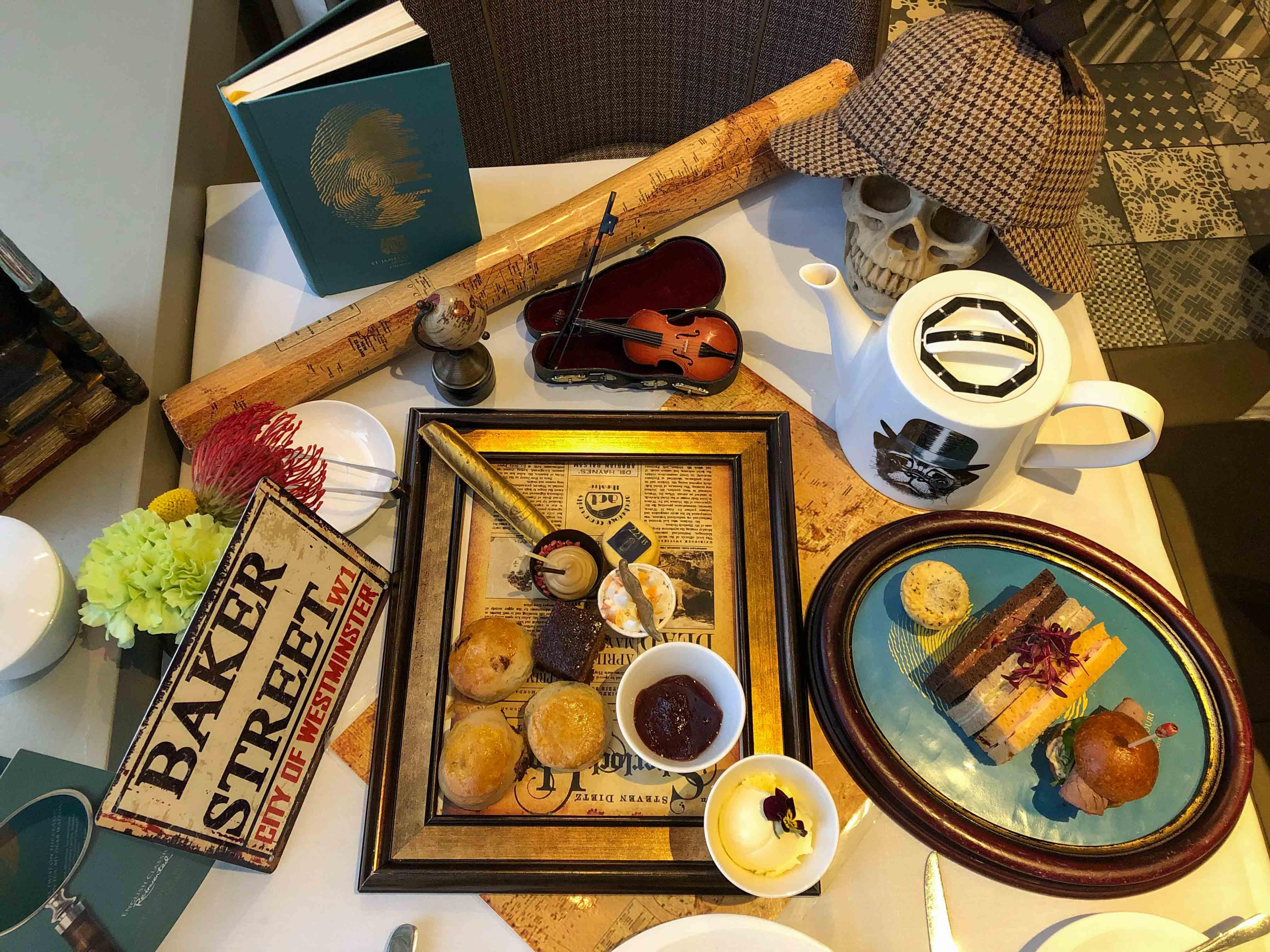 Sherlock Holmes afternoon tea in London