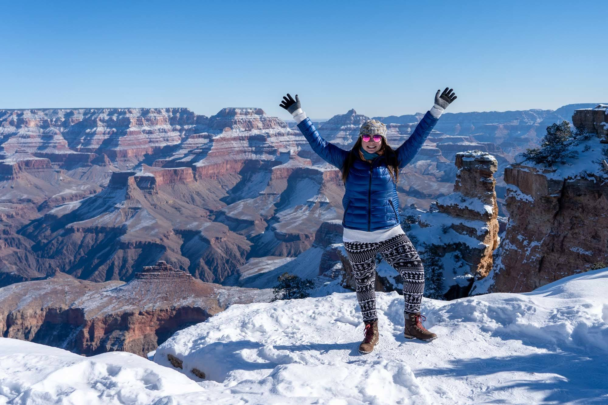 Grand Canyon viewpoint in winter