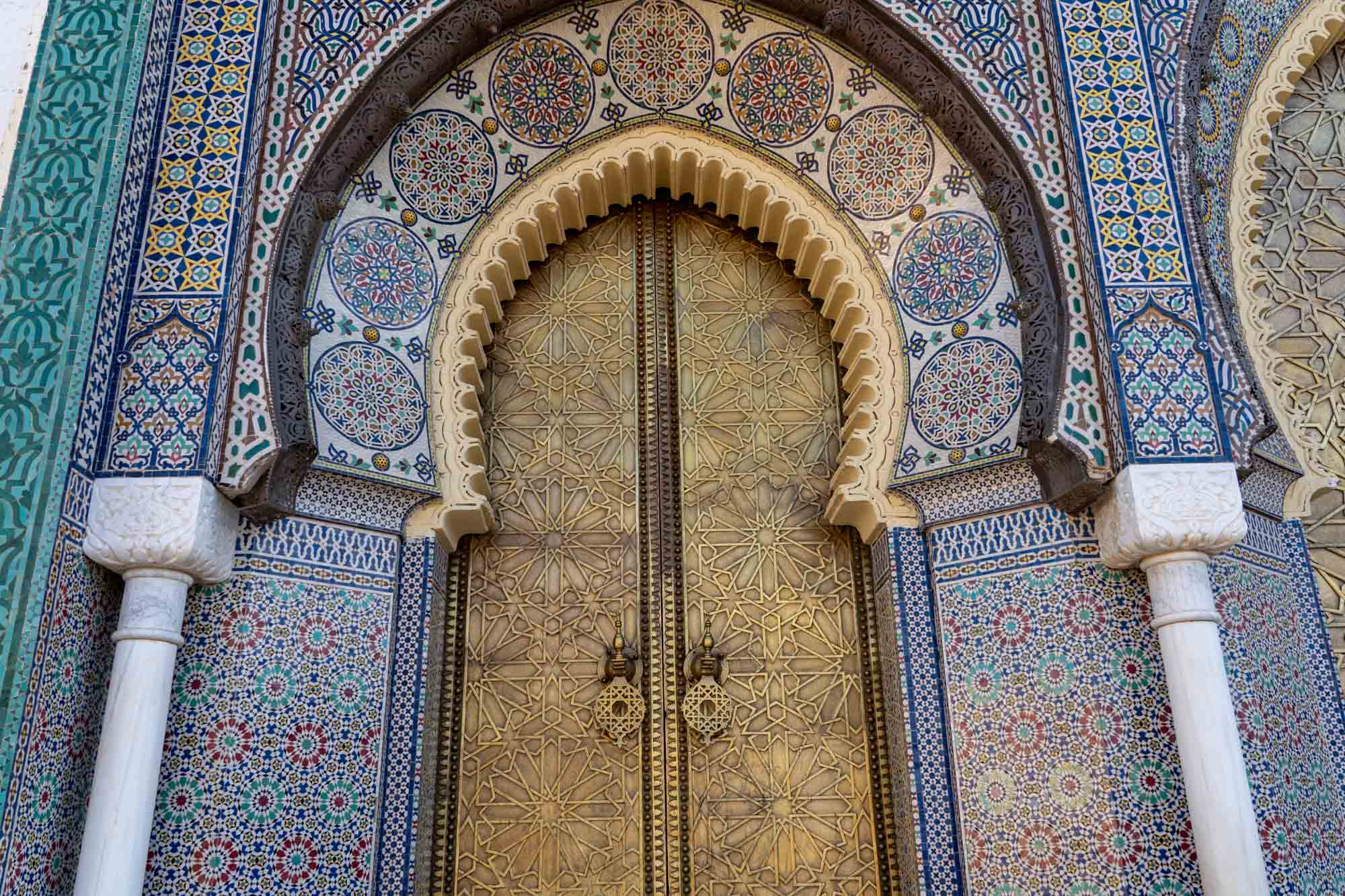 Royal Palace door in Fes, Morocco