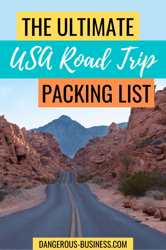 US road trip packing list