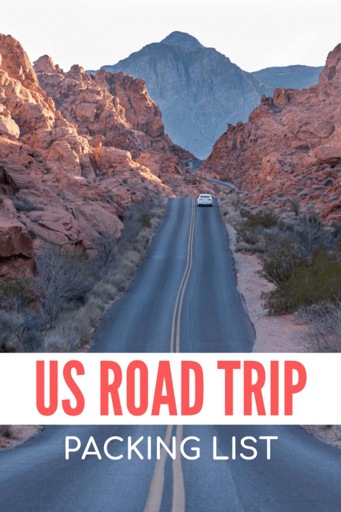 USA road trip packing list