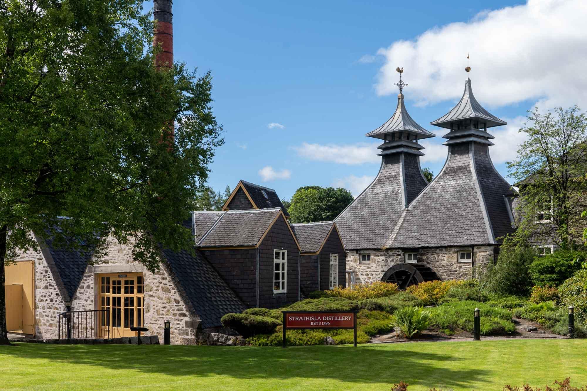 Strathisla distillery in Scotland