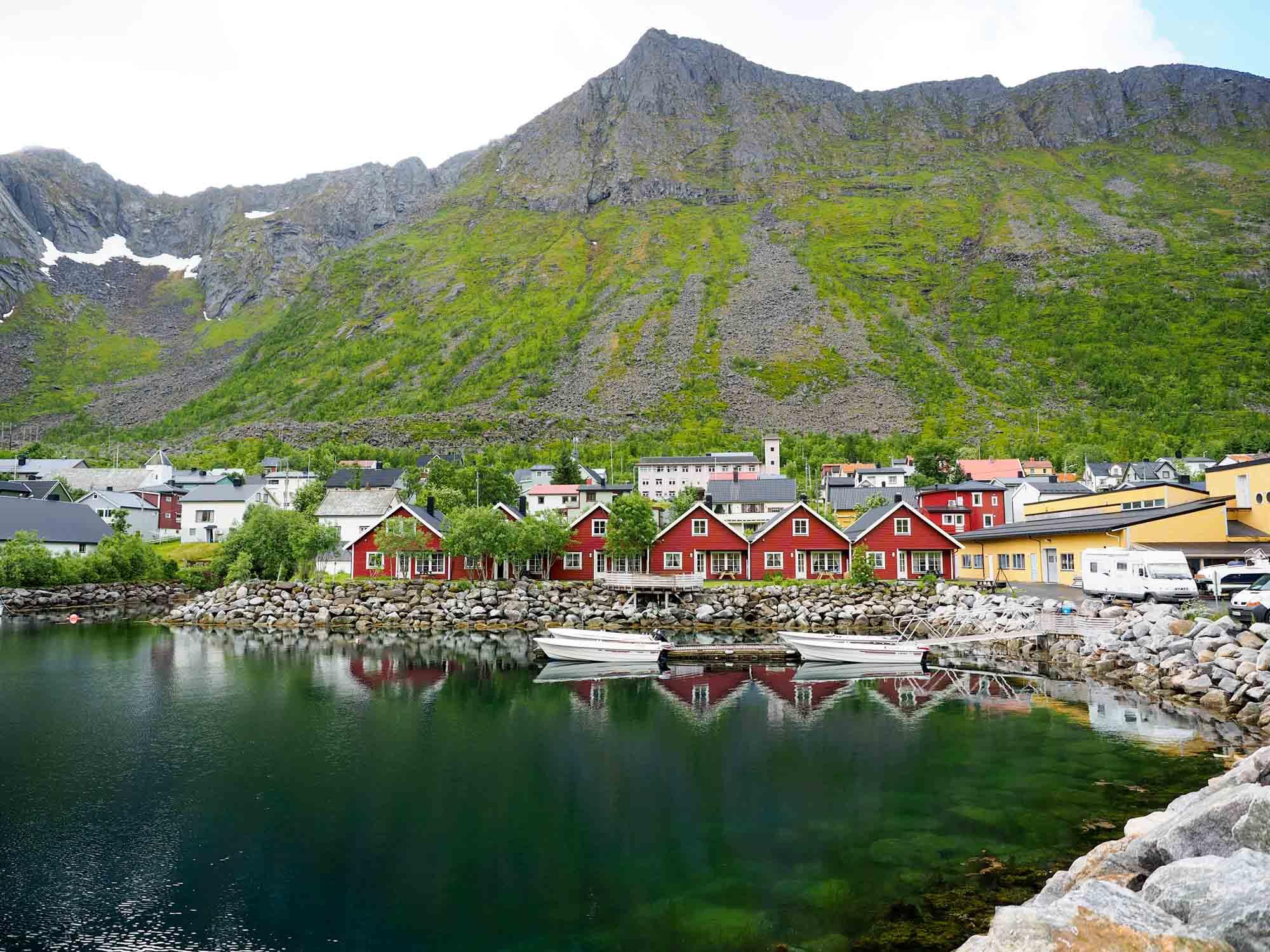 Fishing village of Gryllefjord, Norway
