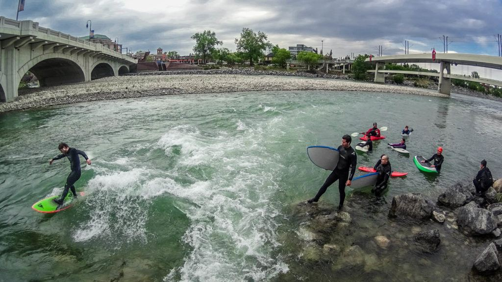 River surfing in Calgary
