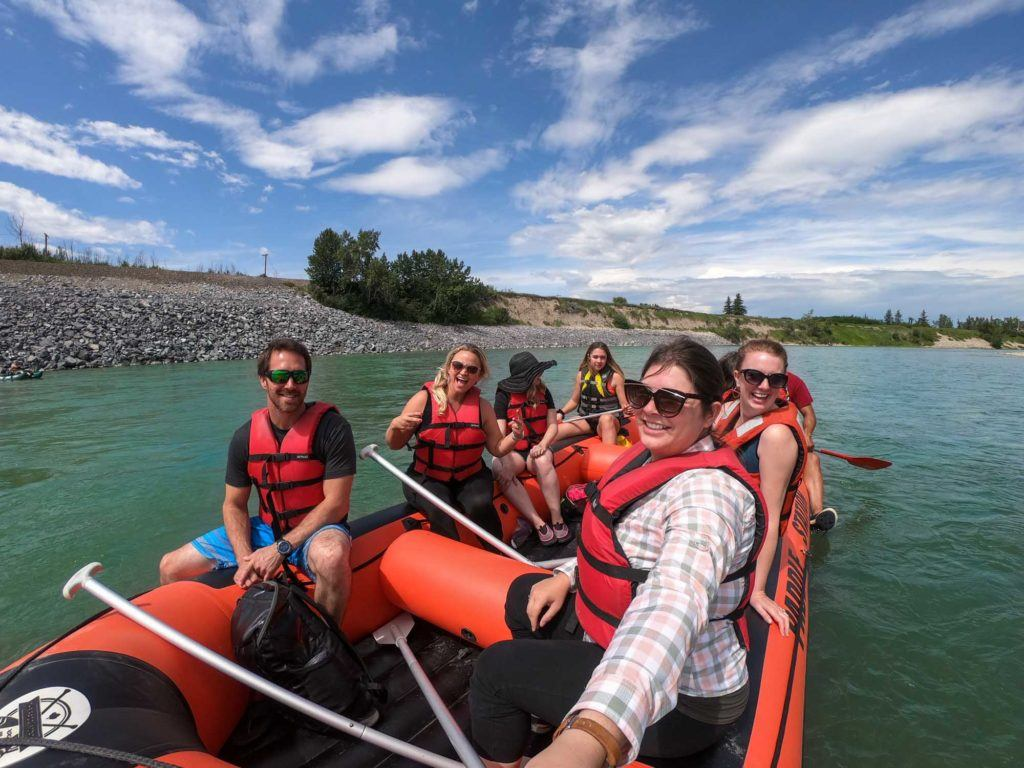 Rafting the Bow River in Calgary