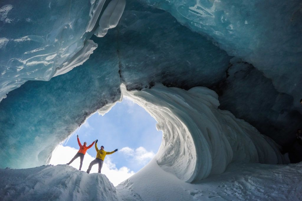 Ice cave on Athabasca Glacier