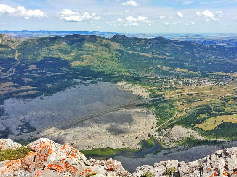 View from Frank Slide and Turtle Mountain