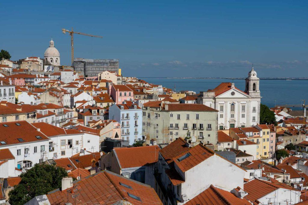 Miradouro view in Lisbon