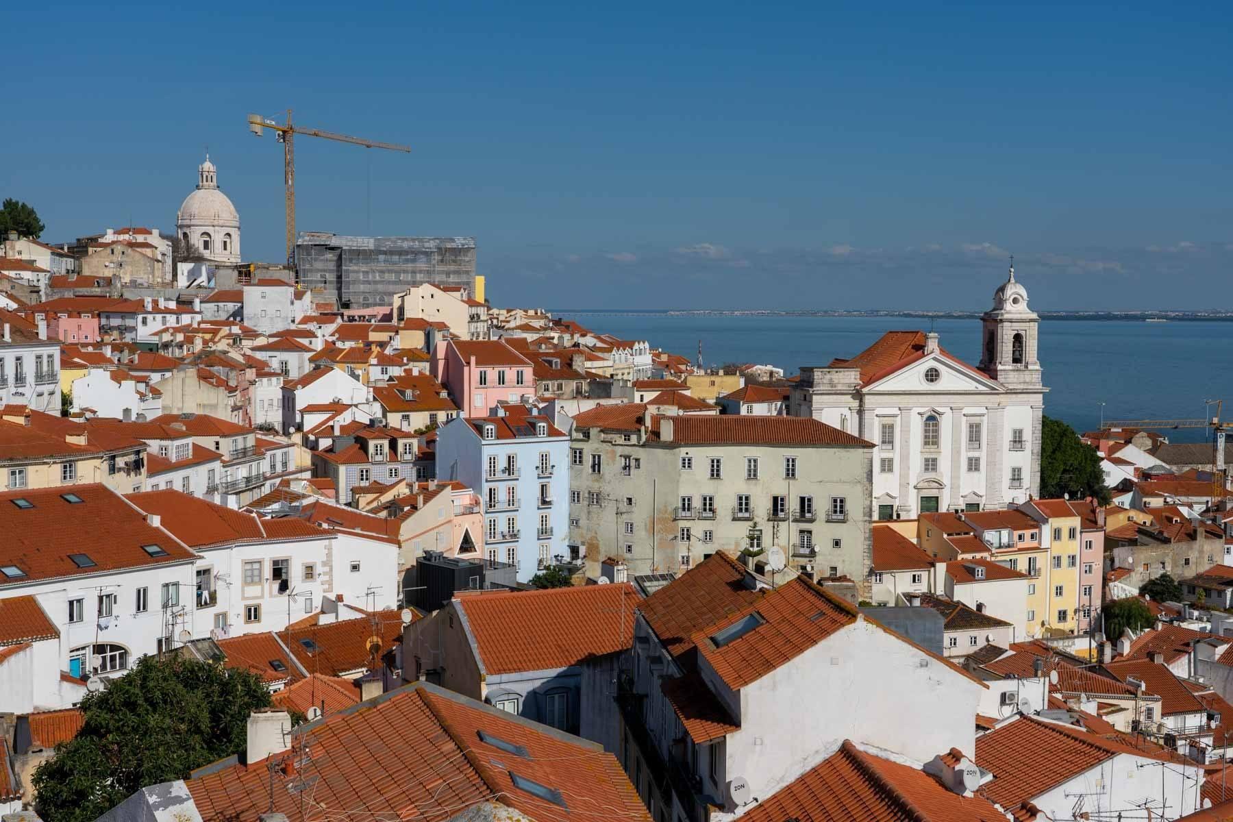 Miradouro view in Lisbon