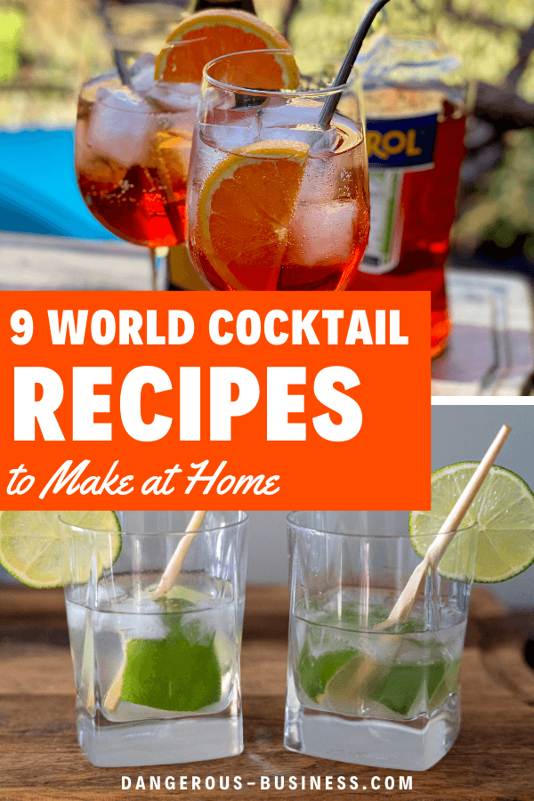 Cocktail recipes from around the world