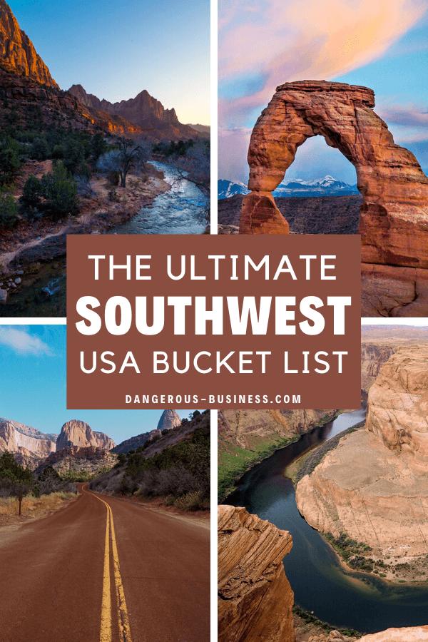 Southwest bucket list
