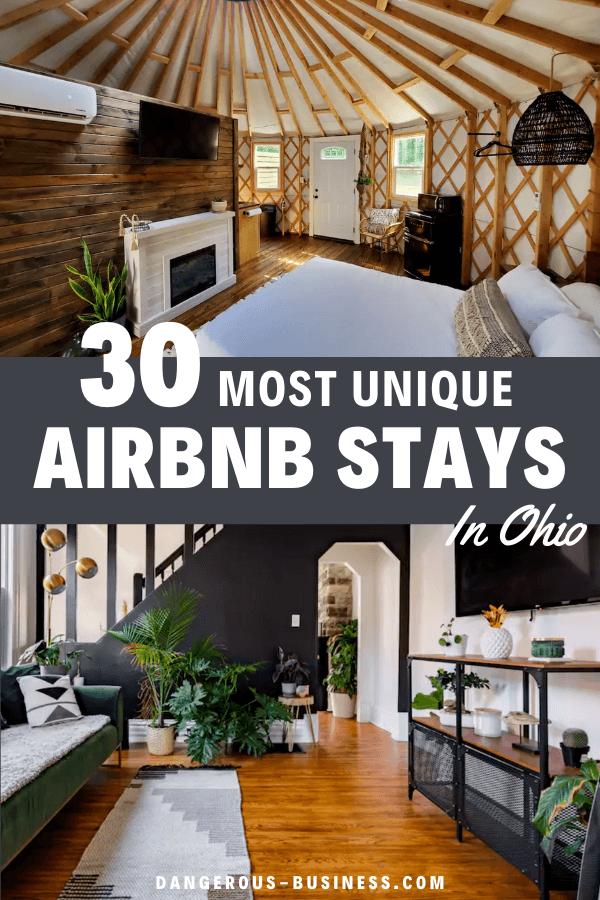 Most unique Airbnb stays in Ohio