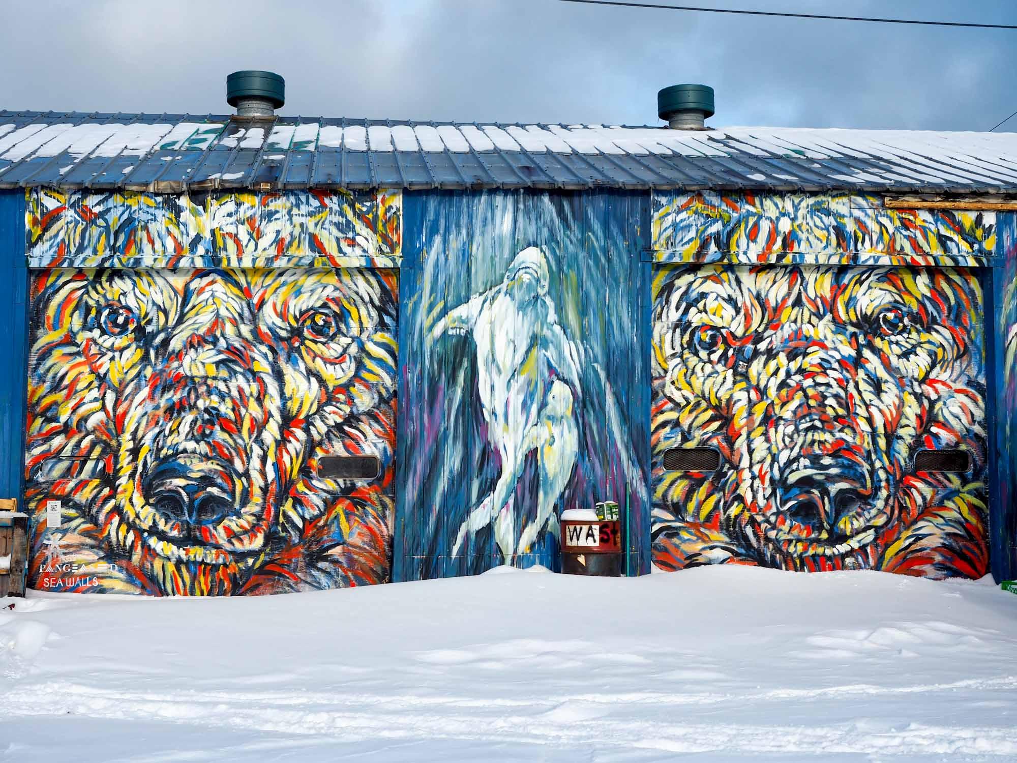 Churchill polar bear mural