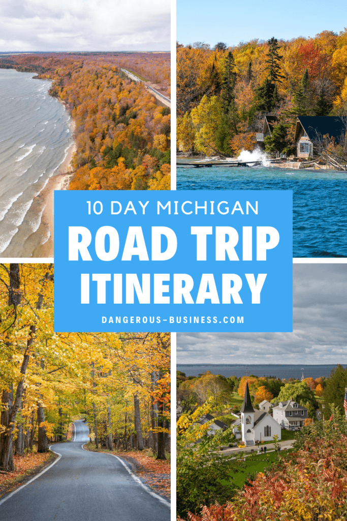 Michigan road trip itinerary for fall