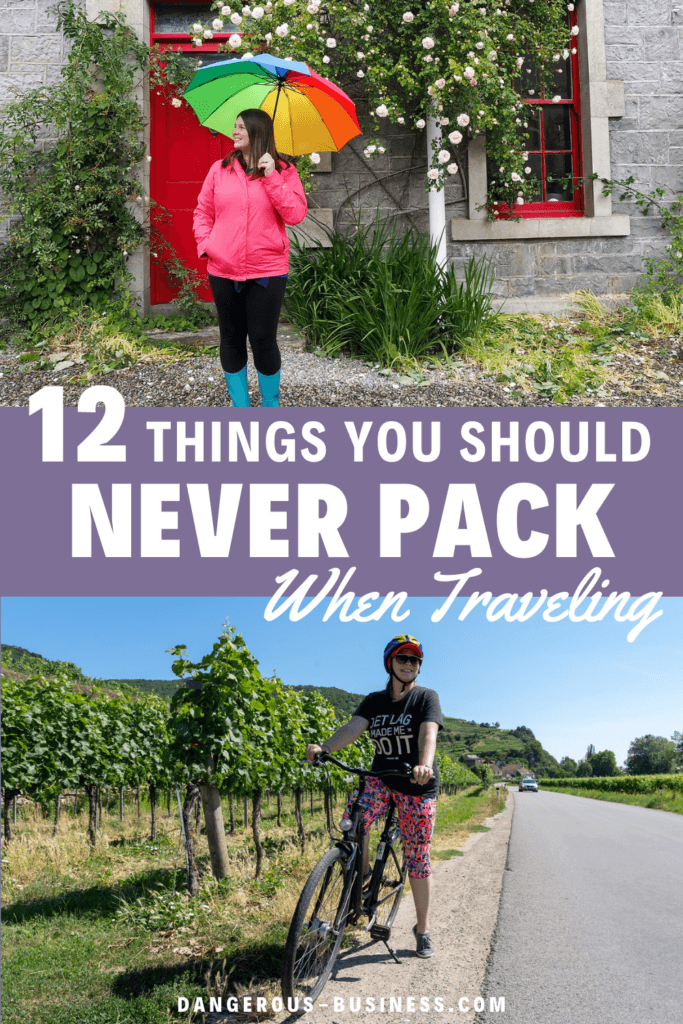What not to pack for travel