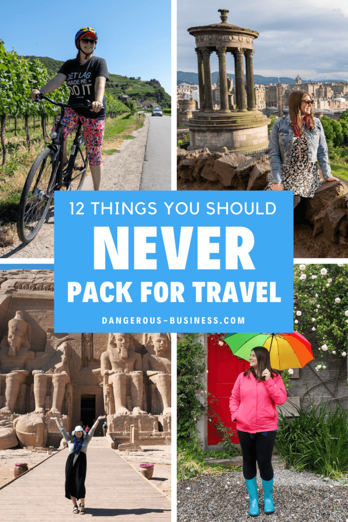 Things you don't need to pack for travel