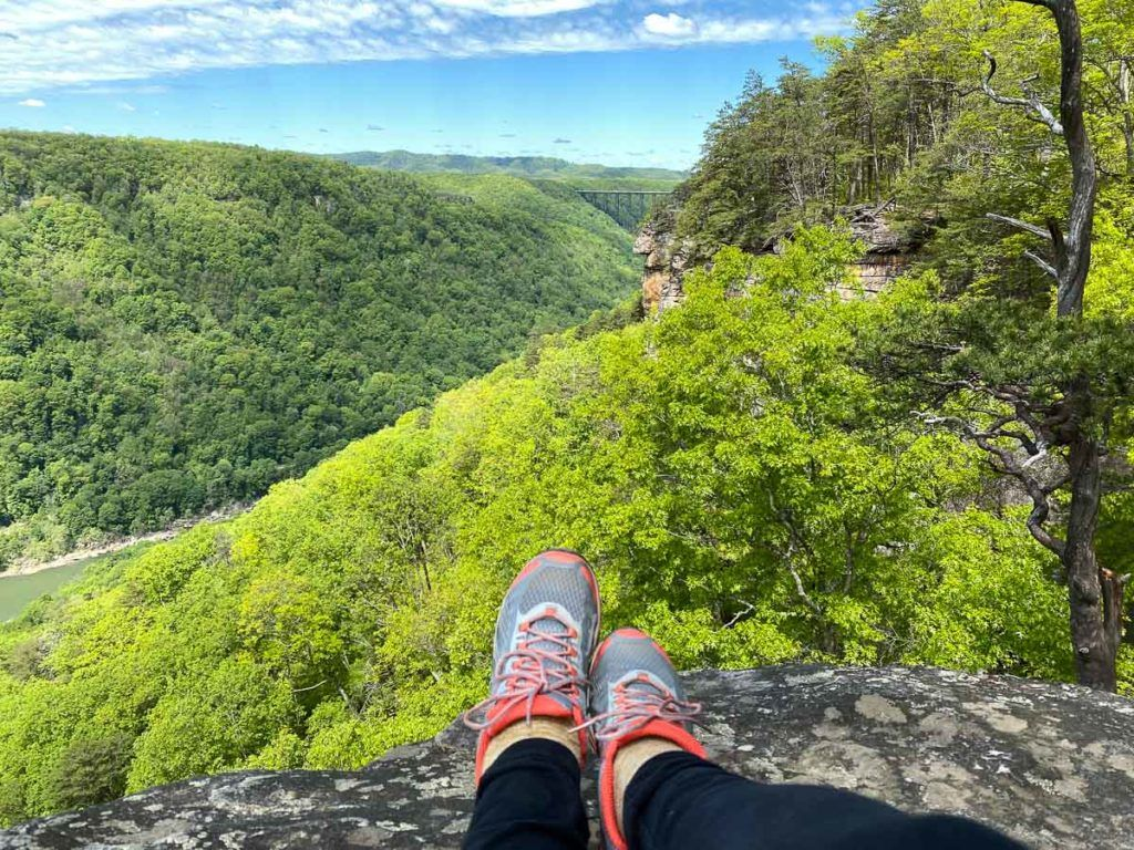 Hiking at New River Gorge